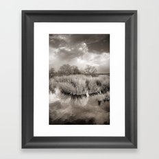 Before the big storm. Vintage Framed Art Print