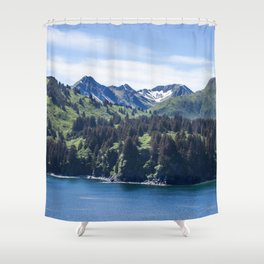 Three Sisters Mountains Photography Print Shower Curtain