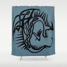 Celtic Knotwork Deadly Nadder (Black) Shower Curtain