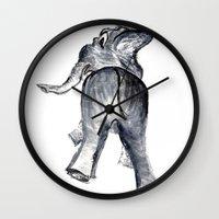 ellie goulding Wall Clocks featuring Ellie by Judith Lee Folde Photography & Art