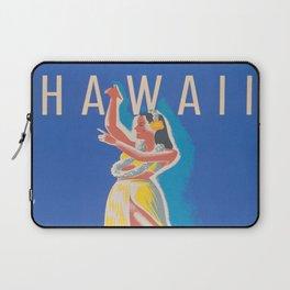 Hawaii Hula Girl Vintage Travel Poster Laptop Sleeve