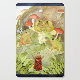 Toad Council Cutting Board