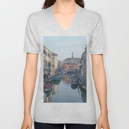 Canals in Venice, Italy   Travel Photography   Europe Unisex V-Neck