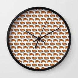 Salmon Sushi Pattern Wall Clock