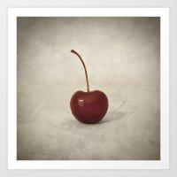cherry Art Prints featuring Cherry by Taylan Soyturk