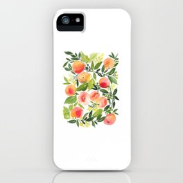 Peach watercolor Sketch iPhone Case