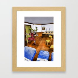 Home Security? Framed Art Print