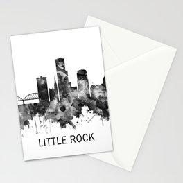 Little Rock Skyline BW Stationery Cards