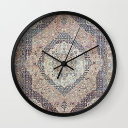 Haj Jalili Tabriz Persian Rug Print Wall Clock