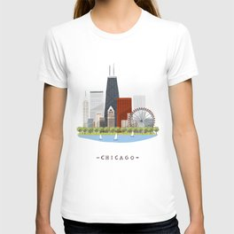 Chicago skylines T-shirt