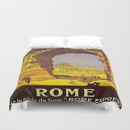 Vintage poster - Rome Duvet Cover