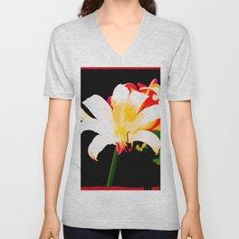 Multi-Color Lilies Unisex V-Neck