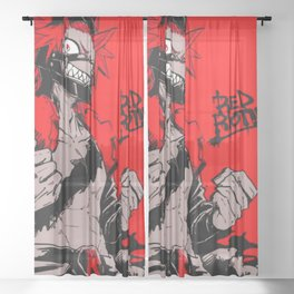 RED RIOT / KIRISHIMA EIJIRO - MY HERO ACADEMIA Sheer Curtain