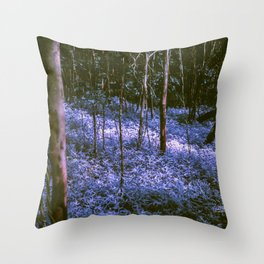 Purple Forest Dream Throw Pillow