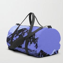 Chugach Mountains - Blue Pop Art Duffle Bag