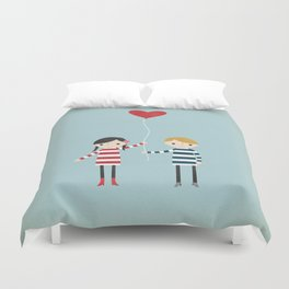 Love is in the Air - Girl Duvet Cover