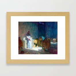 Henry Ossawa Tanner Daniel in the Lions' Den Framed Art Print