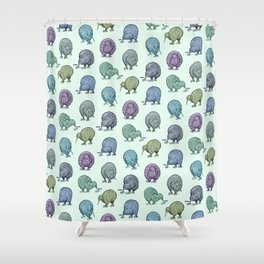 Hungry Kiwis – Cool Palette Shower Curtain