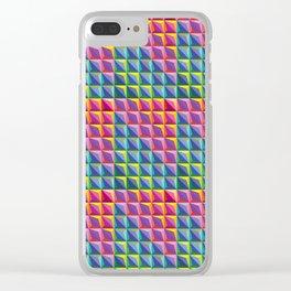 Smaller geometricolours Clear iPhone Case