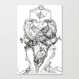Multidimensional Ravens Canvas Print