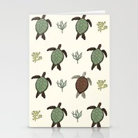 turtles Stationery Cards featuring Turtles by Chloe Chadwick