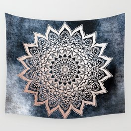 BLUE BOHO NIGHTS MANDALA Wall Tapestry