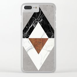 Marble Abstract Clear iPhone Case