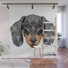 Dachshund | Low-poly Art Wall Mural