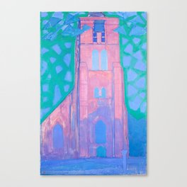Church tower at Domburg by Piet Mondrian, 1911 Canvas Print