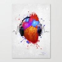 paramore Canvas Prints featuring No Music - No Life by Sitchko Igor