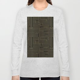 Black and gold art-deco geometric pattern. Long Sleeve T-shirt