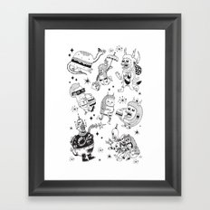 Frenemies Framed Art Print
