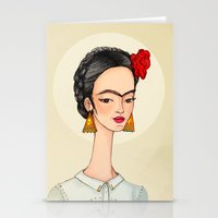 frida Stationery Cards featuring Frida by Renia