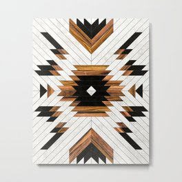 Urban Tribal Pattern 5 - Aztec - Concrete and Wood Metal Print