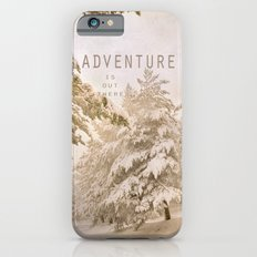 Adventure. Snowing at the mountains. Slim Case iPhone 6