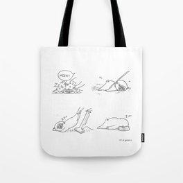 Sleepy Puggy Tote Bag