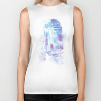 r2d2 Biker Tanks featuring R2D2 by Sitchko Igor