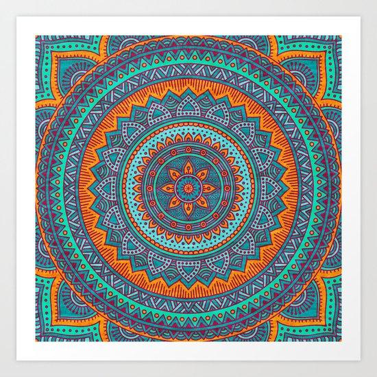 Hippie mandala 75 Art Print