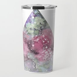 Watercolor Galaxy Triangle Travel Mug