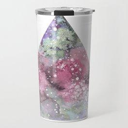 Watercolor Galaxy Triangle Travel Mug