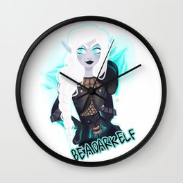 Be A Dark Elf Wall Clock