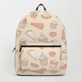Pink Pastry Pattern Backpack