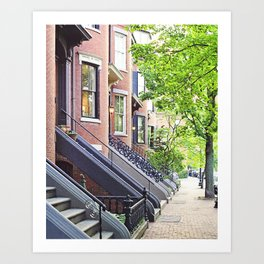 South End Neighborhood Stoops Art Print