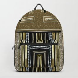 Gold Black Glam ArtDeco X5 Backpack