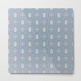 Grey damask pattern Metal Print