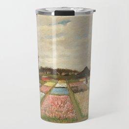 Flower Beds in Holland by Vincent van Gogh, 1883 Travel Mug