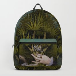 """The hands of Bosch and the Spring"" Backpack"