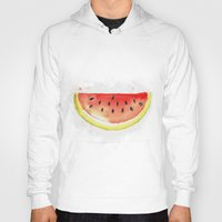 watermelon Hoodies featuring watermelon  by Soso Creation