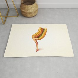 Hot Dog Girl Rug