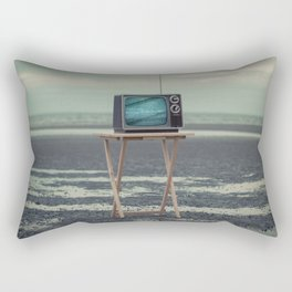 Who Needs Paradise When You Can Watch It On TV? Rectangular Pillow
